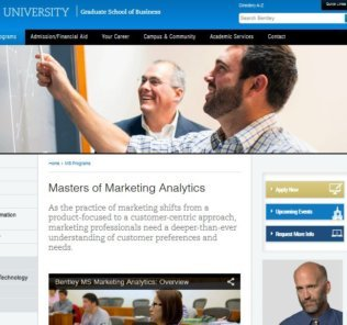 Bentley University, Master of Science Marketing Analytics
