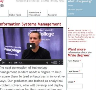 Carnegie Mellon University, Master of Information Systems Management
