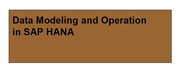 Data Modeling and Operation in SAP HANA - Compare Reviews