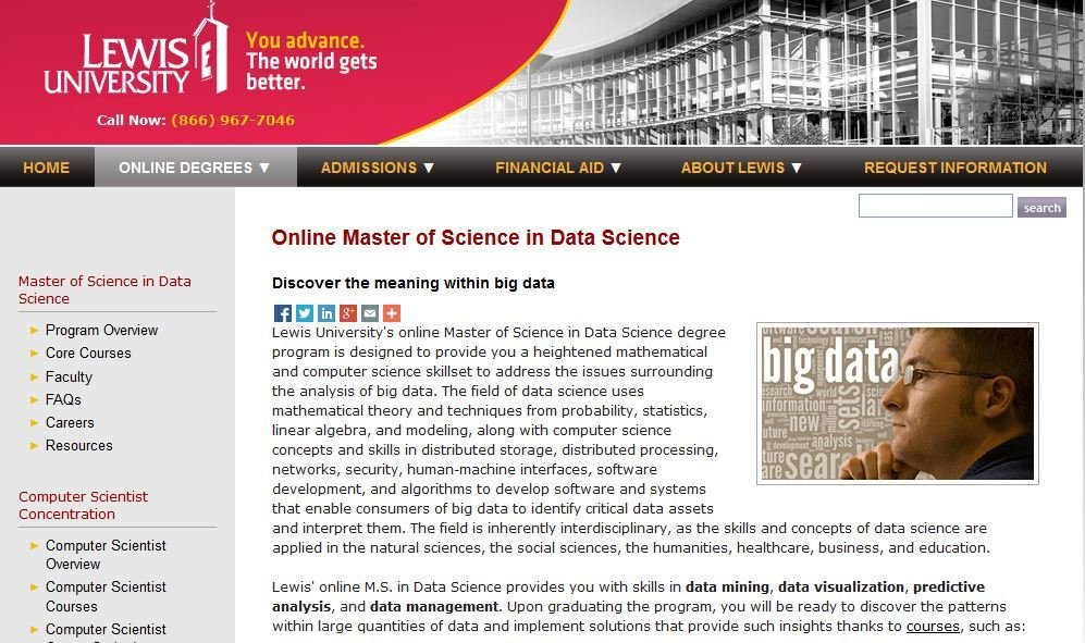 Lewis University Master of Science Data Science
