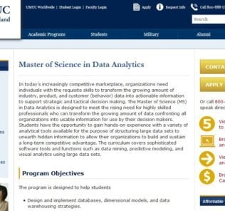University of Maryland, Master of Science Data Analytics