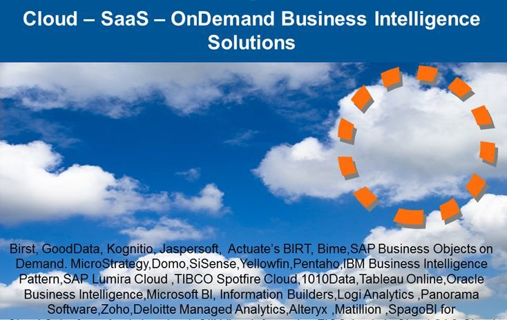 Cloud – SaaS – OnDemand Business Intelligence Solutions