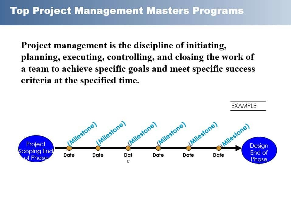 Top Project Management Masters Program