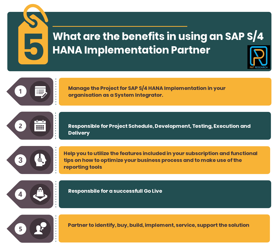 What are the benefits in using an SAP S4 HANA Implementation Partner