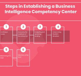 What are the steps in Establishing a Business Intelligence Competency Center